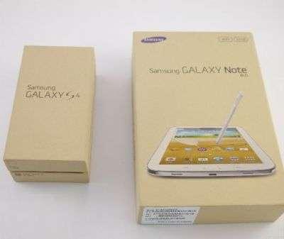 Confezioni in carta riciclata per il Galaxy S4 ed il Galaxy Note 8.0