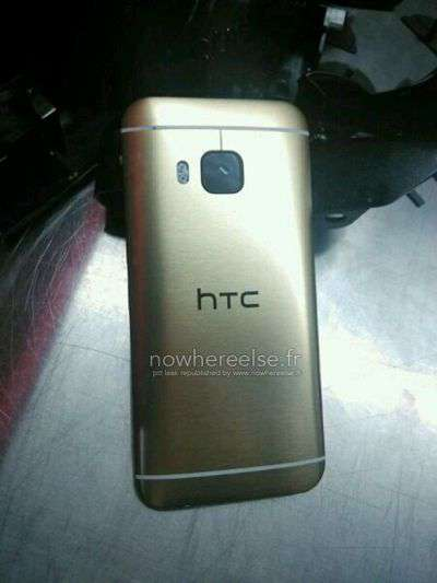 HTC One M9 con retro color oro