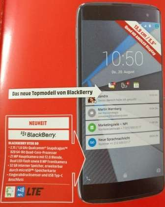 Il device BlackBerry su MediaMarkt