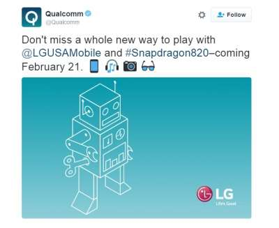 Il tweet di Qualcomm