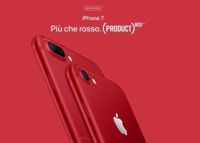 iPhone 7 e 7 plus RED
