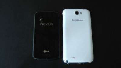 LG Nexus 4 vs Galaxy Note II