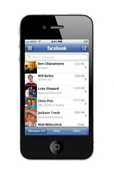 Messages di Facebook su iPhone