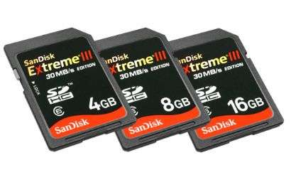 SDHC SanDisk Extreme III 30MB/s Edition line