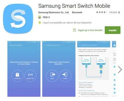 Smart Switch sul Play Store