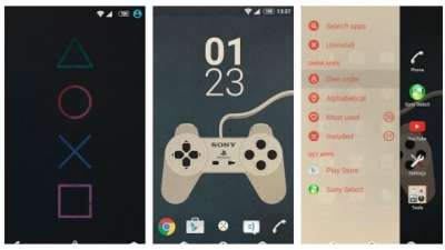 Sony tema Playstion per Xperia
