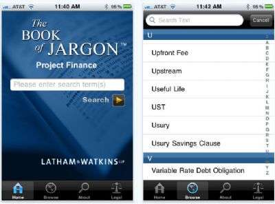 The Book of Project Finance Jargon per iPhone