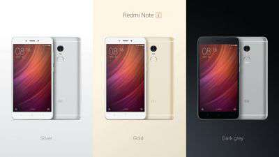 Xiaomi Redmi Note 4 (tre colorazioni)