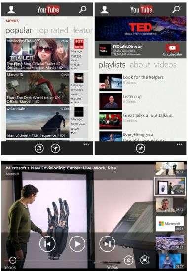 Google e Microsoft collaborano ad app YouTube per Windows Phone